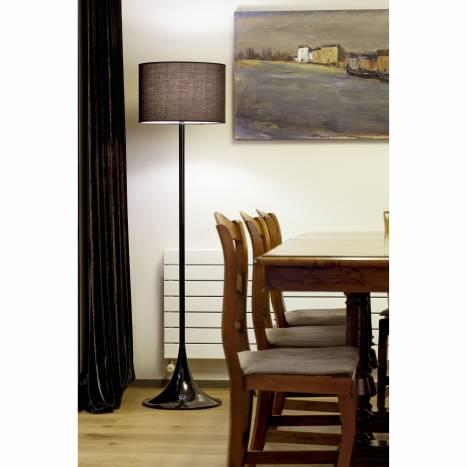 FARO Black floor lamp 1L black shade