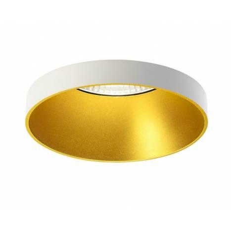 Foco empotrable Ringo 01 blanco y oro de Onok