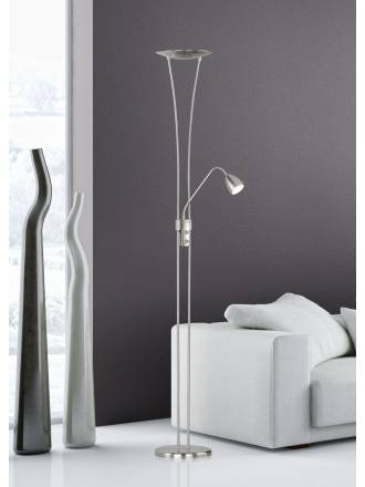 TRIO 4264 floor lamp 2L LED mat nickel dimmable