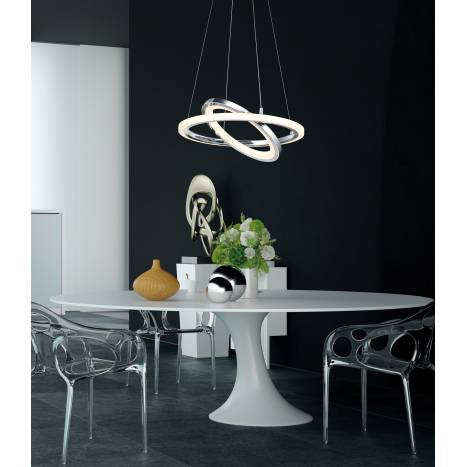Trio Saturn pendant lamp LED 36w chrome