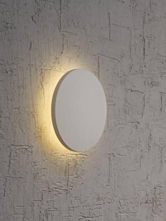 Aplique de pared Bora Bora LED redondo plata de Mantra