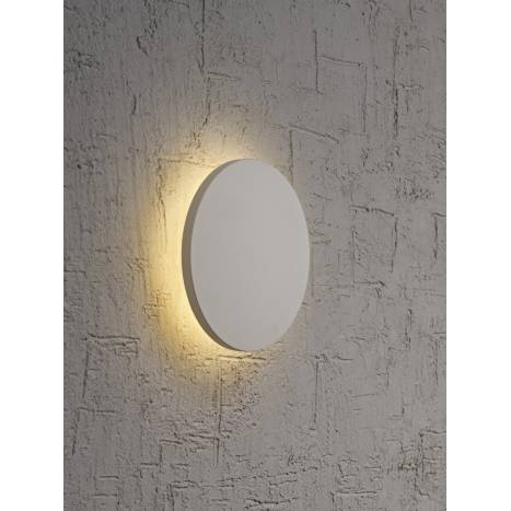 Aplique de pared Bora Bora LED redondo plata de Mantra