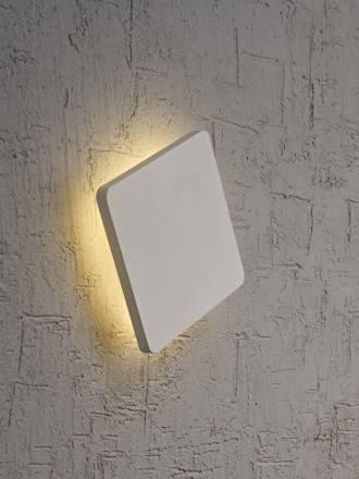 Aplique de pared Bora Bora LED cuadrado blanco de Mantra