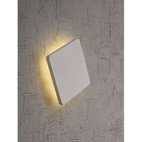Aplique de pared Bora Bora LED cuadrado blanco de Mantra