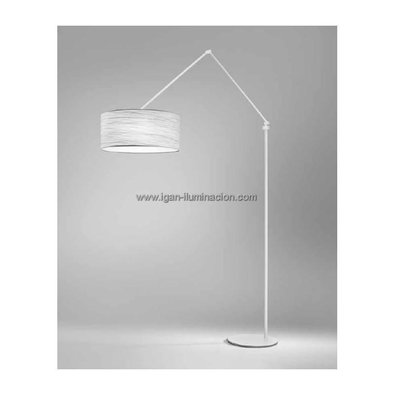 Brilliance Flamingo Floor Lamp White Metal Fabric Colors