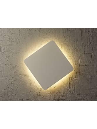 Aplique de pared Bora Bora LED cuadrado plata de Mantra