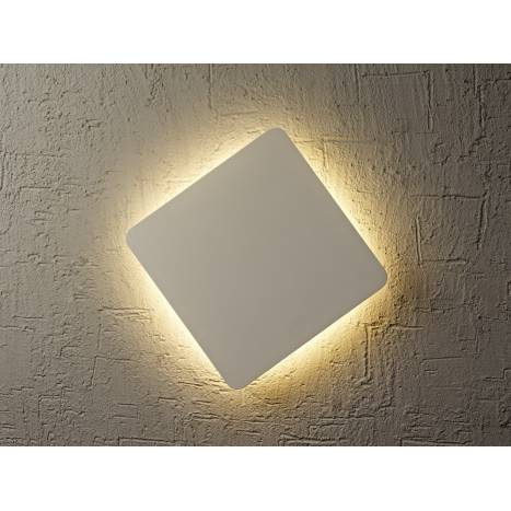 Aplique de pared Bora Bora LED cuadrado plata de Mantra