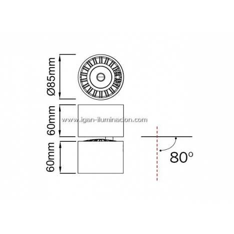 MANTRA Columbretes surface spotlight LED round