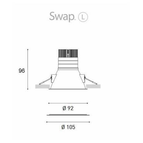 ARKOSLIGHT Swap L recessed light LED white