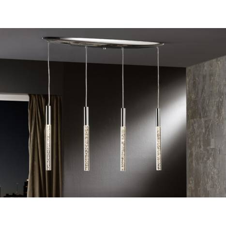 SCHULLER pendant lamp Cosmo LED metal chrome