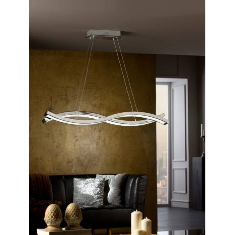 SCHULLER Marin pendant lamp LED metal chrome