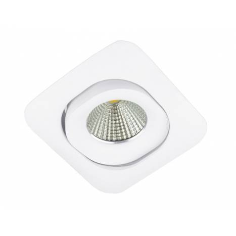 BPM Lucia square recessed light white aluminium
