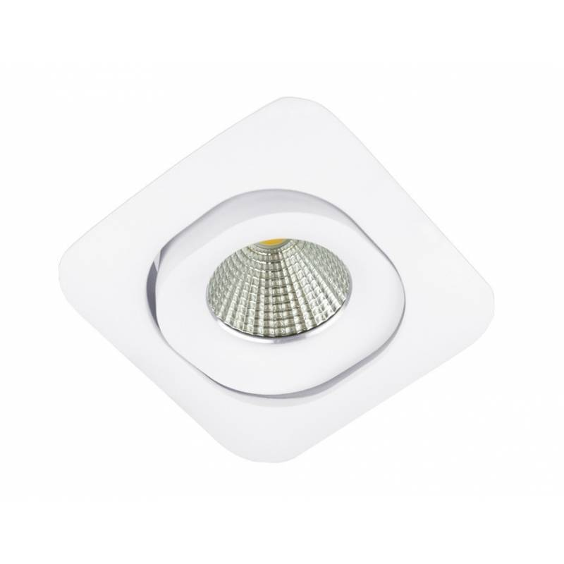 Bpm Lucia Square Gu10 Recessed Light White Aluminium