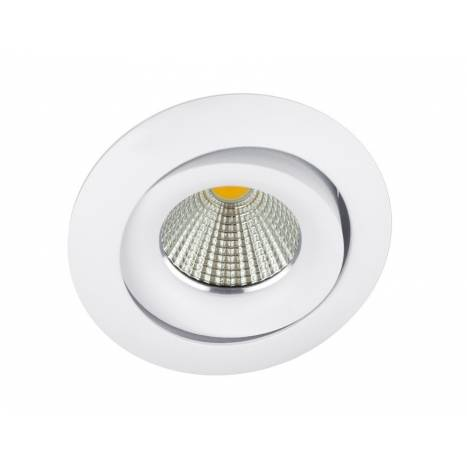 BPM Lucia square round light white aluminium