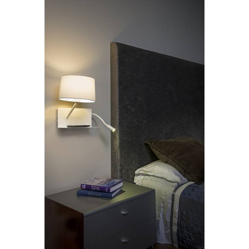 Faro Handy Right Wall Lamp With Led Reader