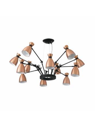 FARO Retro pendant lamp 12l copper