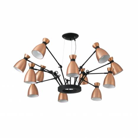 FARO Retro pendant lamp 12l copper