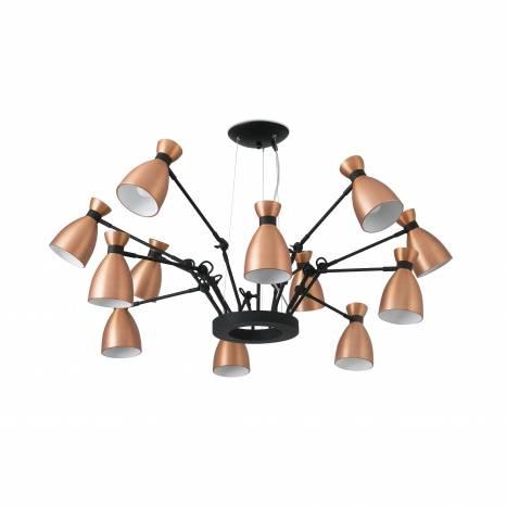Lampara colgante Retro 12 luces cobre de Faro