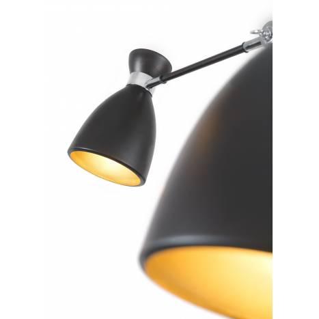 Lampara colgante Retro 12 luces negro y oro de Faro