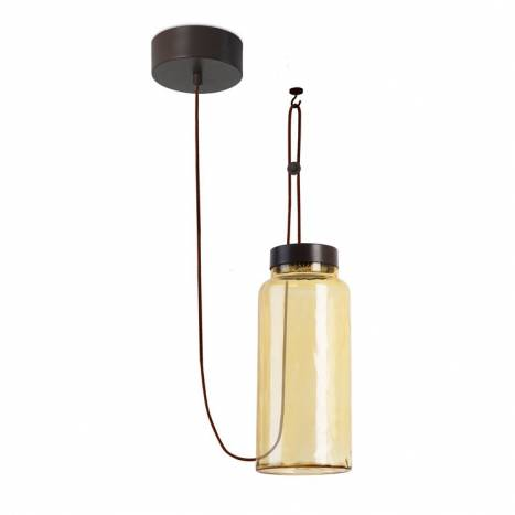 LEDS-C4 Raw pendant lamp yellow glass