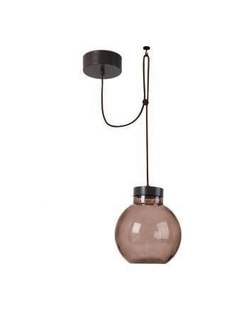 LEDS-C4 Raw pendant lamp brown glass