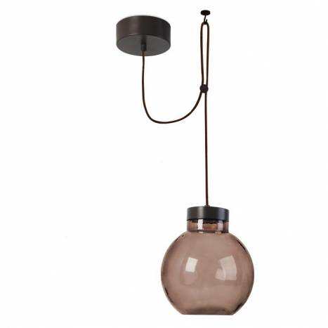 Lampara colgante Raw cristal marron de Leds C4