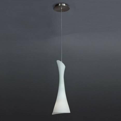 Mantra Zack pendant lamp 1L opal glass