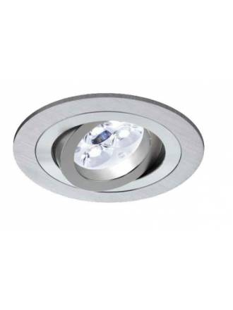 Round recessed light LED 6w aluminium