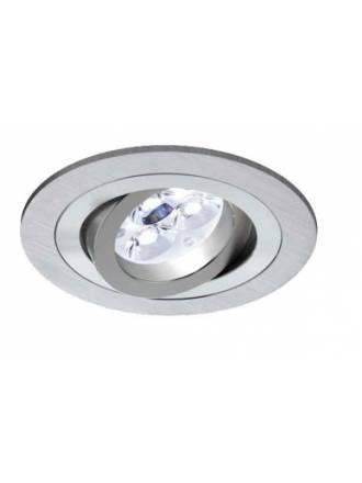 Round recessed light LED 6w aluminium