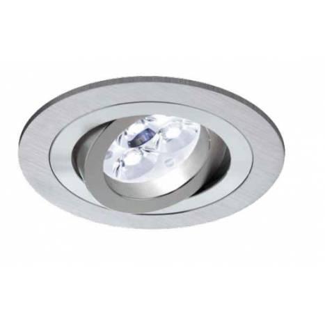 Foco empotrable LED 6w circular aluminio basculante