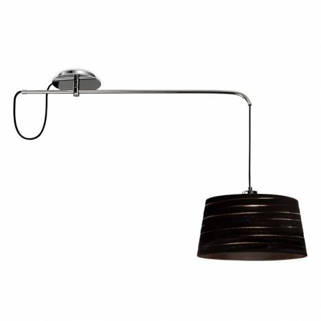LEDS-C4 Magma ceiling lamp 1L black fabric shade