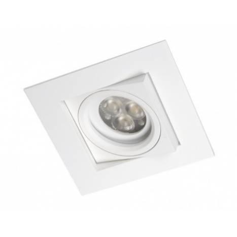Foco empotrable Care cuadrado aluminio blanco de Bpm
