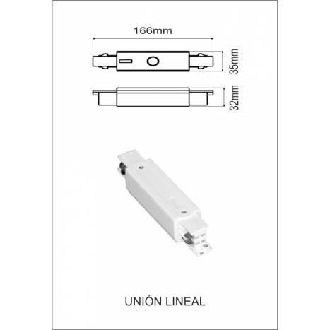 Three phase track lineal union white
