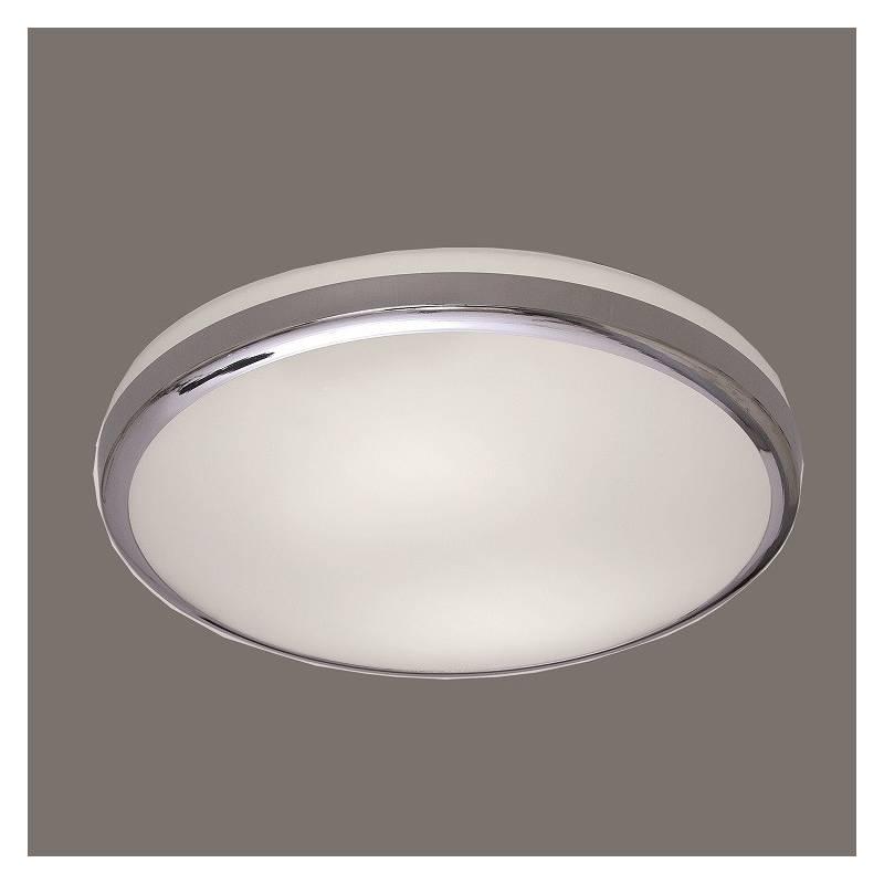Plaf n de techo alb ip44 led cromo cristal daviu - Plafon led techo ...