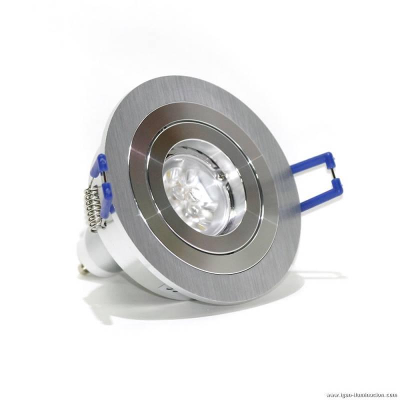 Foco empotrable led 6w circular aluminio maslighting - Foco led empotrable ...