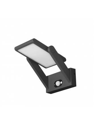 Aplique de pared Proa 2,5w LED solar negro de Beneito Faure