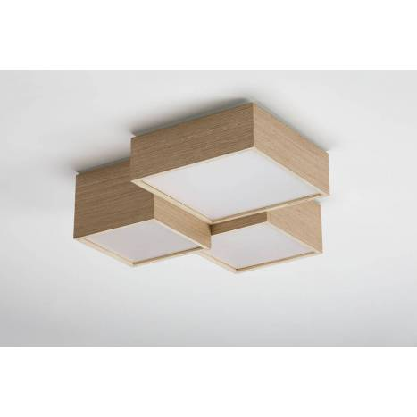 OLE by FM Kube ceiling lamp LED wood