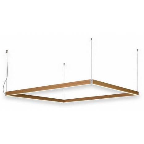 OLE by FM Manolo rectangular pendant lamp LED wood