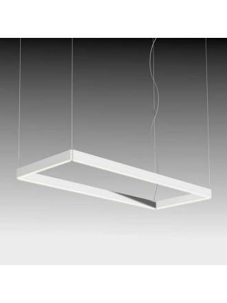 Lampara colgante Manolo LED rectangular blanco de Ole