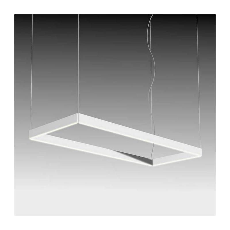 Beau Lampara Colgante Manolo LED Rectangular Blanco De Ole ...