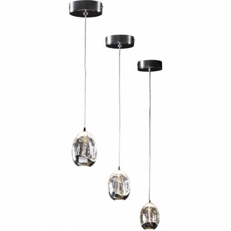 Schuller Rocio pendant lamp 1 light LED chrome
