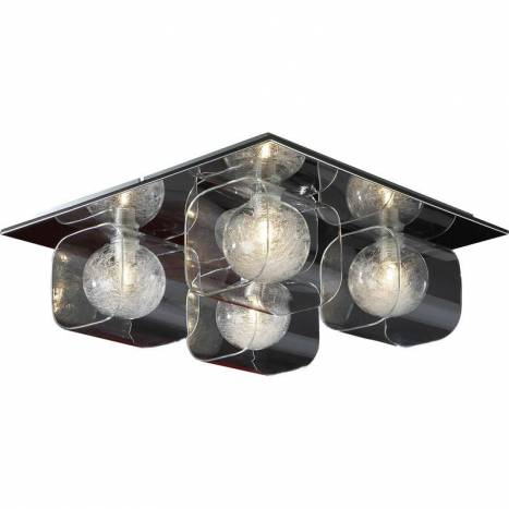 SCHULLER Eclipse ceiling lamp 4 lights bright chrome