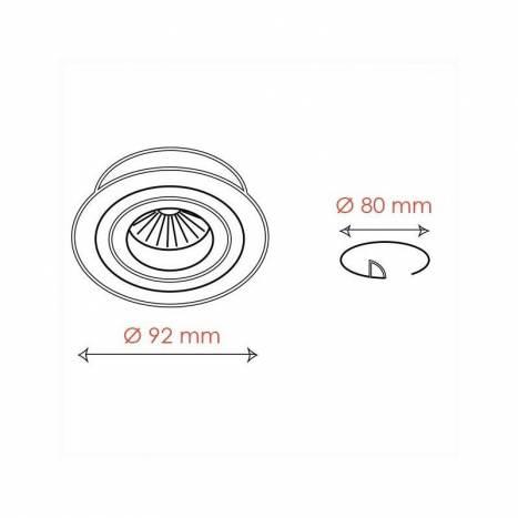 BPM Mini Catli round recessed light aluminium