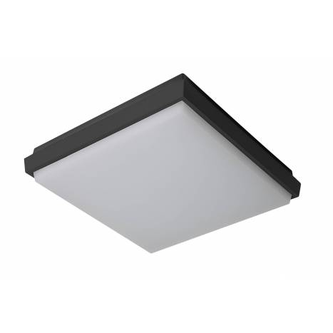 Plafon de techo Fix Square LED IP54 antracita de Sulion