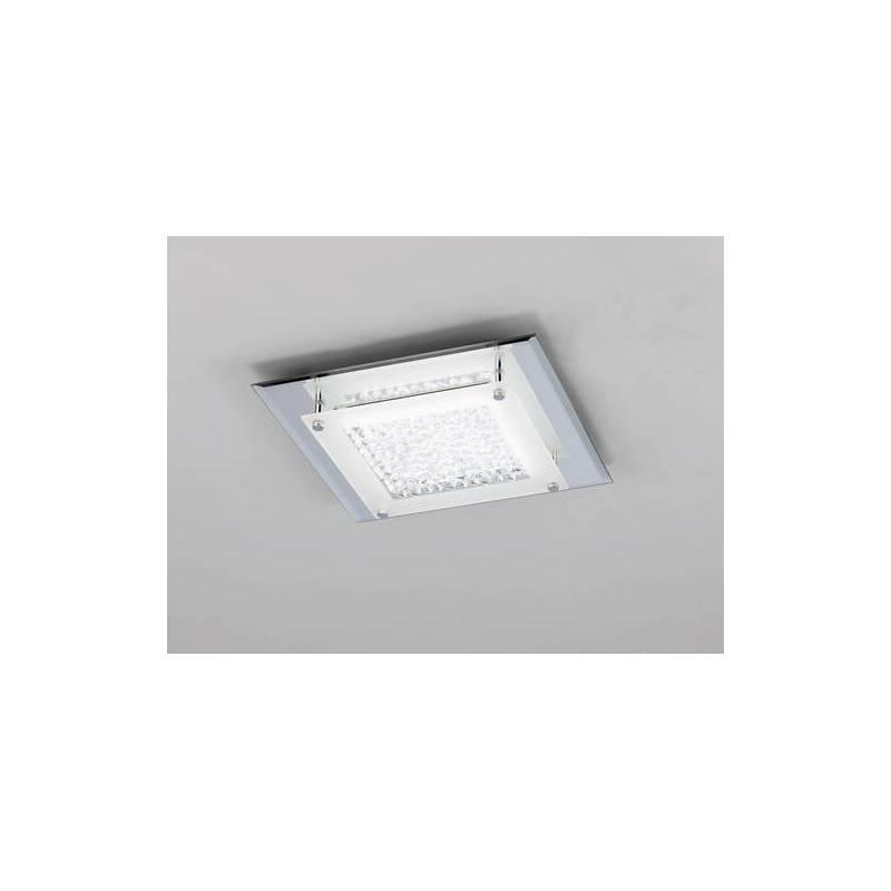 Plafon de techo Crystal LED 12w cromo y cristal de Mantra