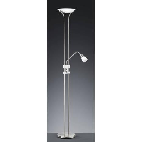 TRIO 4219 floor lamp 2L LED nickel matt