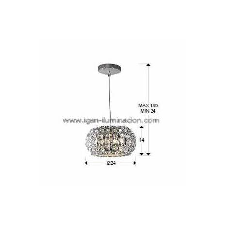 SCHULLER Diamond pendant lamp small 3 lights chrome