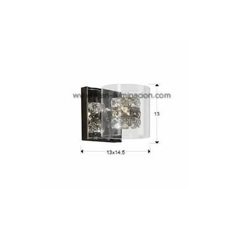 Aplique de pared Flash 1 luz cristal facetado de Schuller