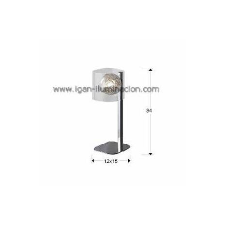 SCHULLER Eclipse table lamp 1 light bright chrome
