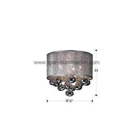 Plafon de techo Andromeda 5 luces Schuller